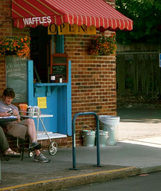 The Waffle Window in SE Portland offering some unique waffles