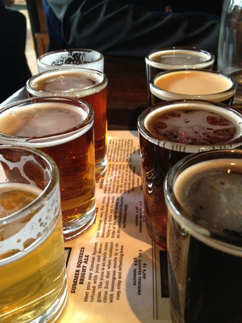 Eight beer sampler from Bridgeport Ale House