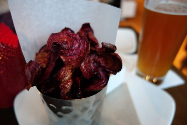 Beet Chips from the Happy Hour menu. Delicious!