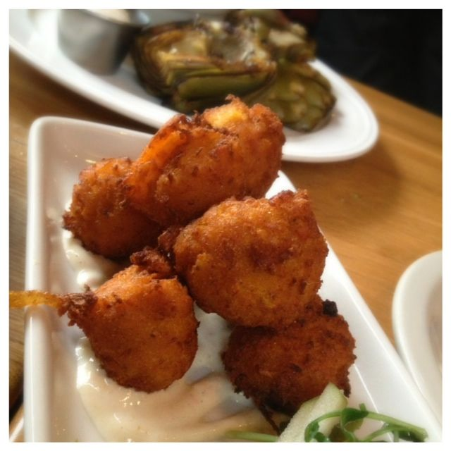 Hushpuppies and Grilled Artichoke