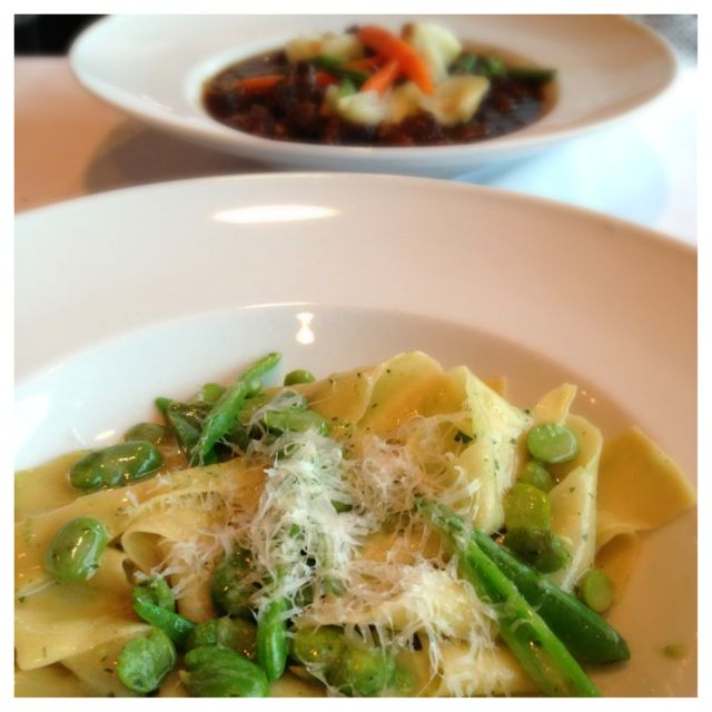 Spring pasta dish from Bistro Marquee