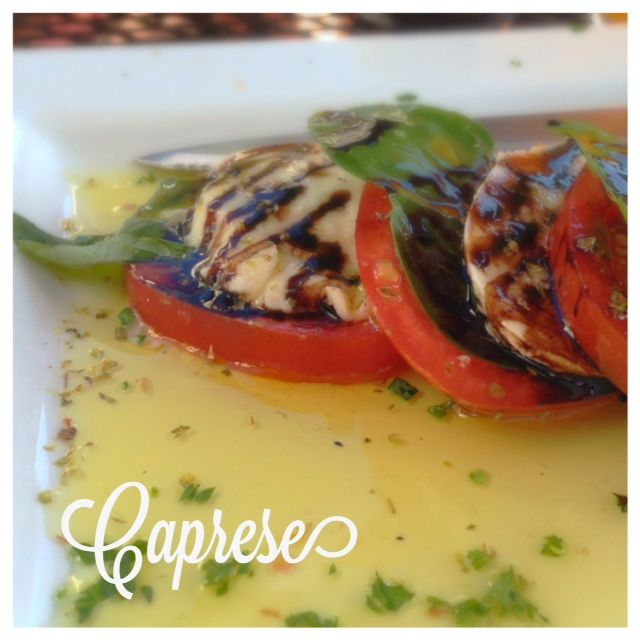 Caprese from Zeppo in Lake Oswego Happy Hour