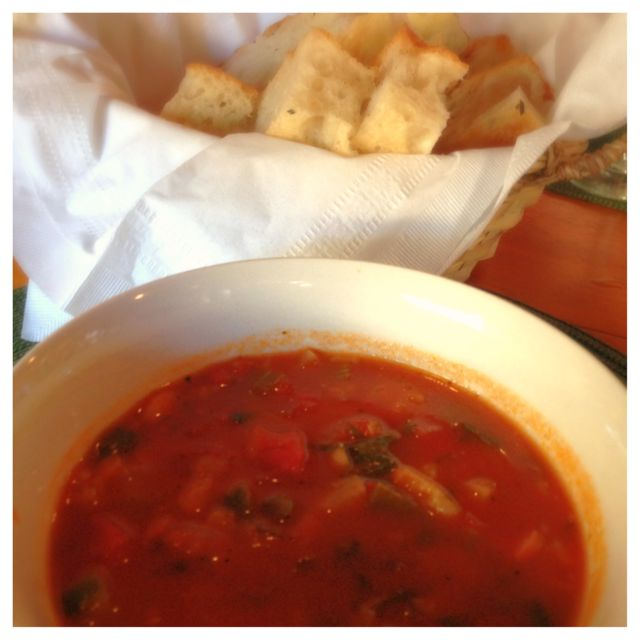 Soup and bread from Farmers Revival