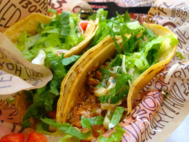 Look closely and you can see the Sofritas on my tacos.