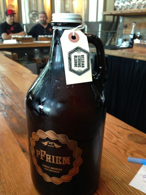 Pfriem Growlers. This was my very first growler. I think I've started something with this.