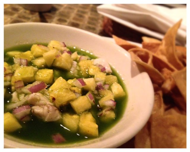 Ceviche with Rockfish. Special of the night and spectacular.