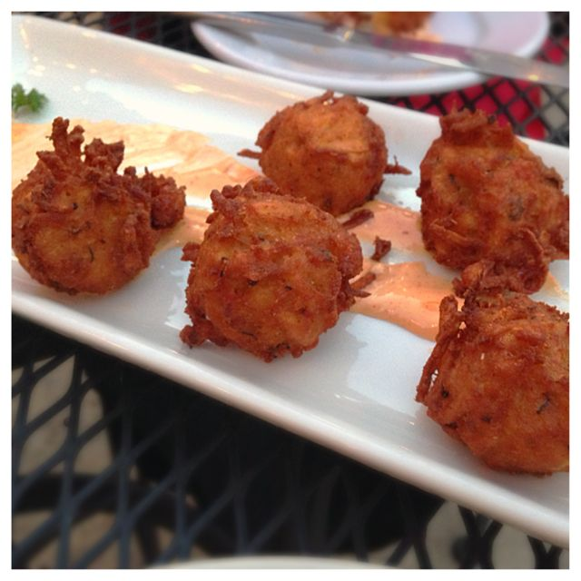Crayfish tater tots from the Station