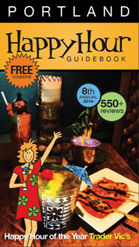 Get the Brand New Happy Hour Guide Book today.