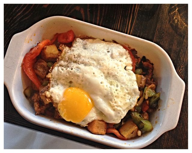 The Fall brunch hash, with tons of flavors running through it