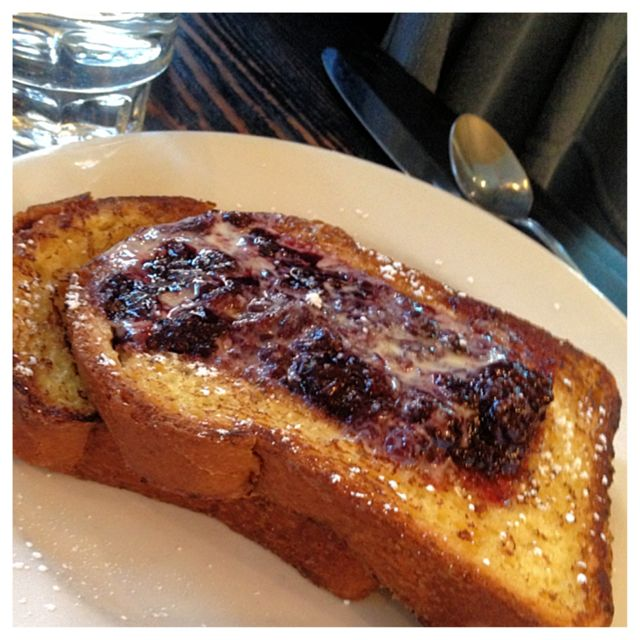 French Toast with berry compote.