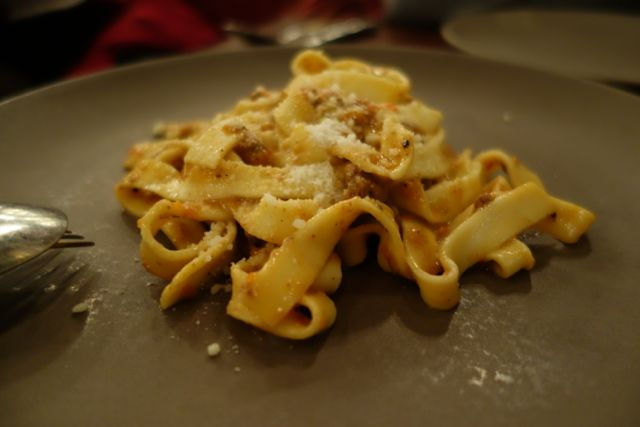 This was pasta with bolognese sauce