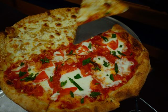 Margherita and White Pie from Baby Doll Pizza