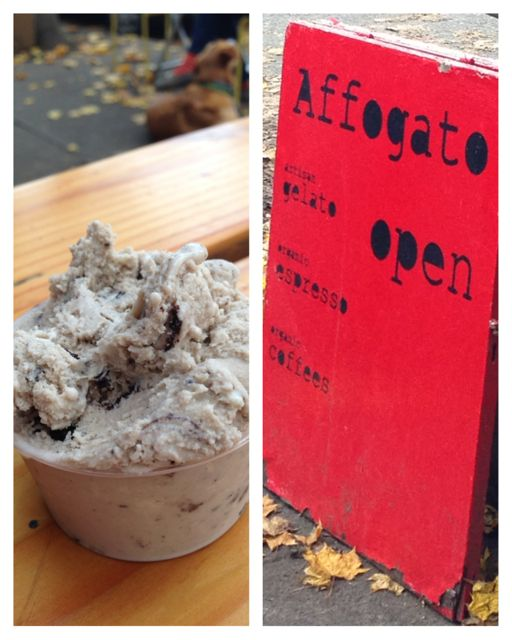 Affogato gelato and coffee