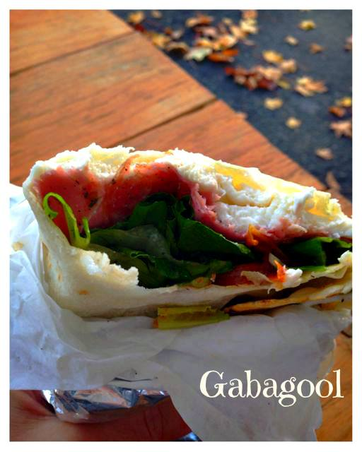 Piadine from Gabagool. This little sandwich packs a lot of flavor