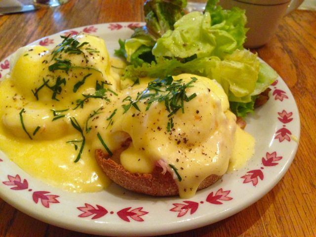 Eggs Benedict from James John Cafe