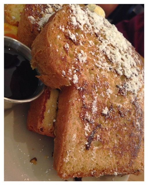 The french toast from Helser's on Alberta