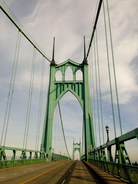 Crossing over St. Johns Bridge