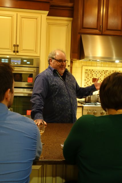 Chris Angelus of Portland Food Adventures explaining what the night will look like