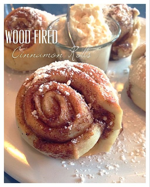 Girasole has wood fired cinnamon rolls