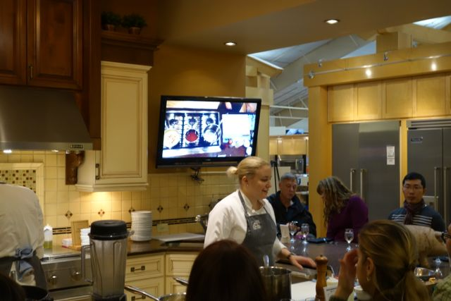 Chef Sarah from Irving St. Kitchen teaching us a few things