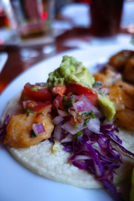 Fish Tacos from Oba's Happy Hour menu