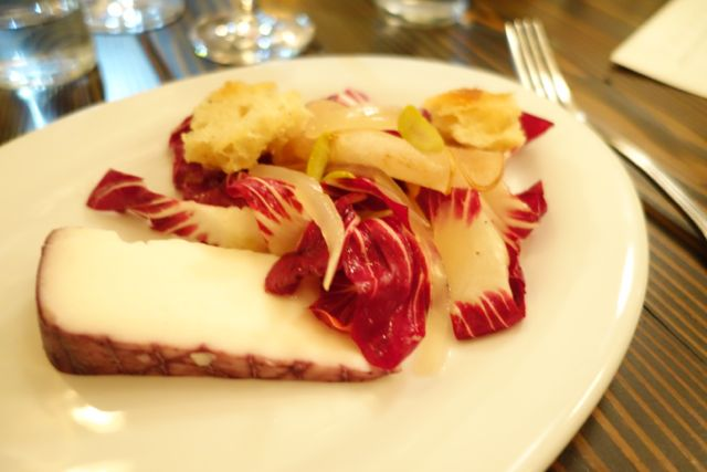 Goat cheese with Pear & Radicchio salad