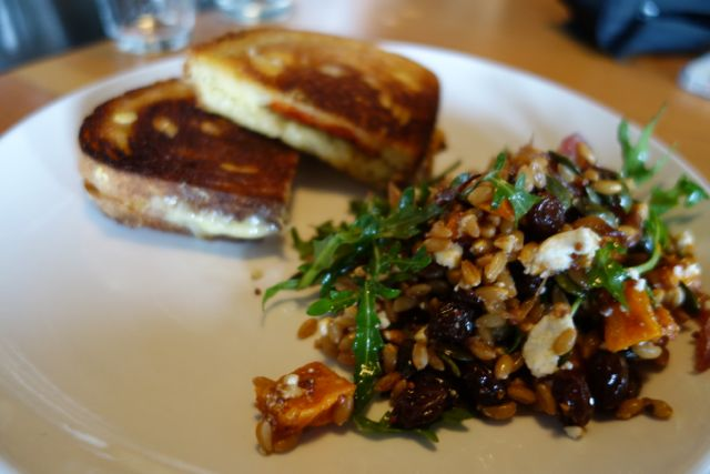 Grilled Cheese and Farro Salad