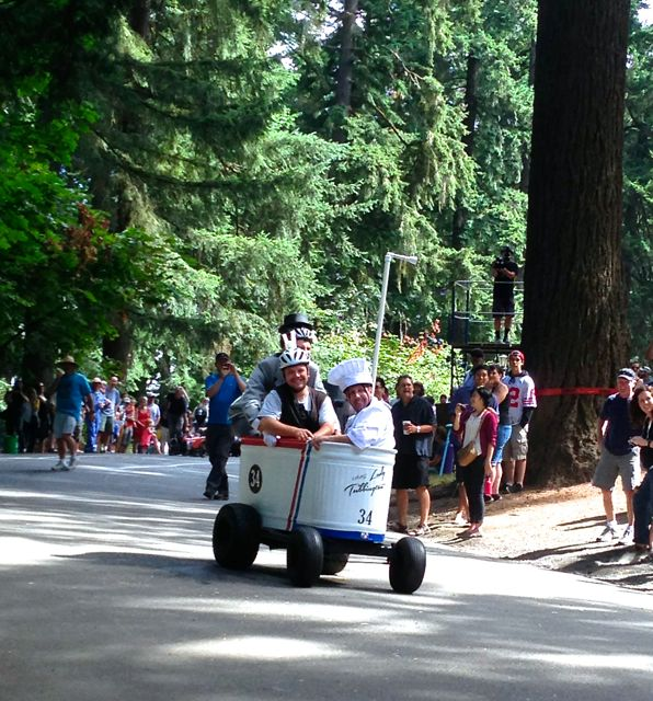 Adult Soap Box Derby on Mt. Tabor