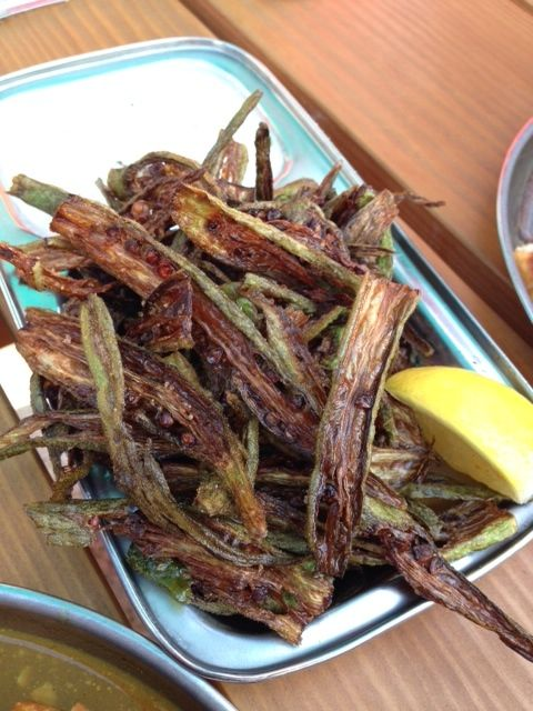 The okra everyone said we needed to order