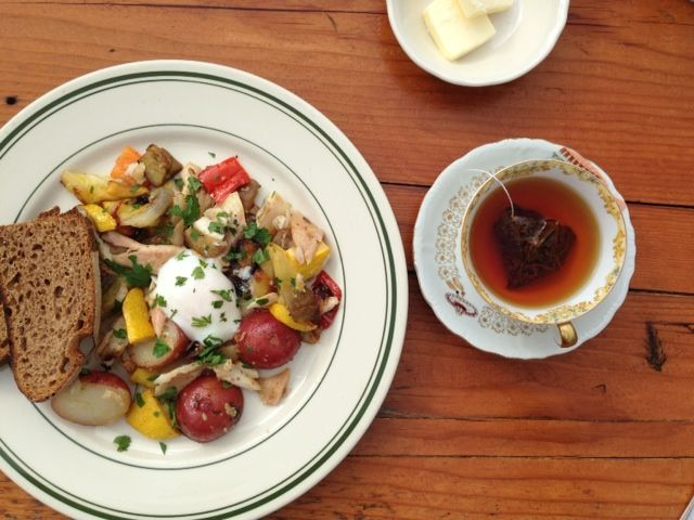 Smoked Trout hash from Ned Ludd in Portland