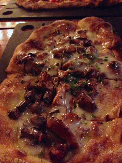 Mushroom pizza from Serious Pie