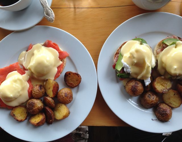Eggs Benedicts galore here at The Fat Hen