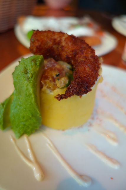 I loved this lime potato cake with shrimp.
