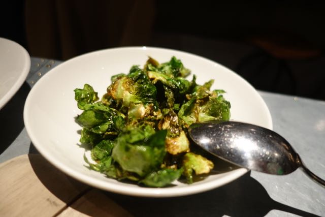 Brussels sprout chips on the Happy Hour menu were delicious