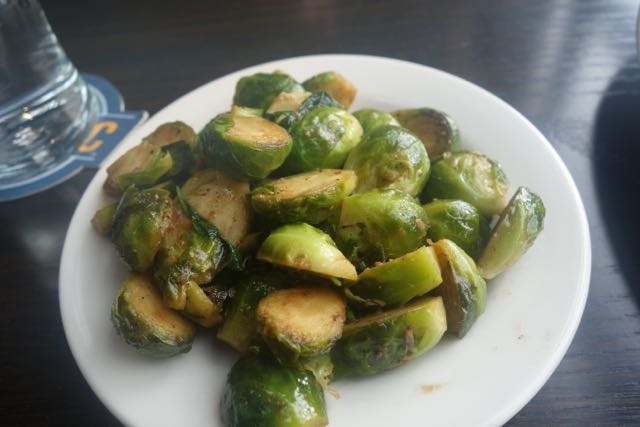 If they are on the menu I will order them. Brussel sprouts from Ecliptic Brewing. The veggies balance out the beer.