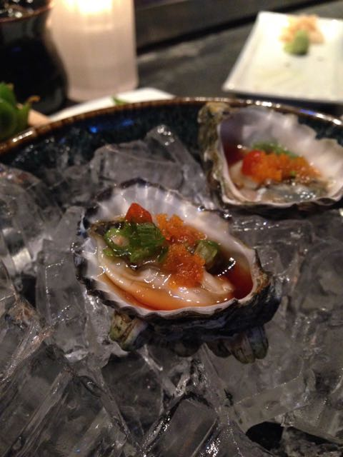 oysters from Masu sushi