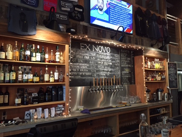 Ex Novo beers on tap. Quite a selection