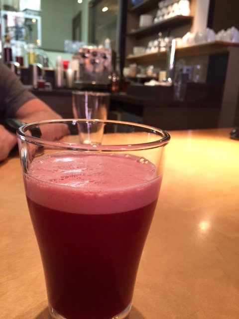 Blackberry and Brahamin on Nitro. Beautiful color in this tea drink