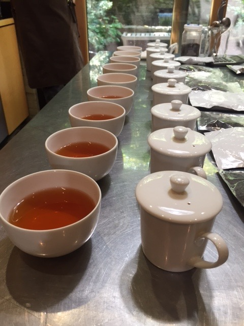 This is part of the process to pick the perfect tea.