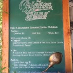 Simple menu from Chicken and Guns