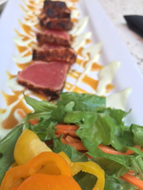 Ahi Tuna from Henry's Tavern.