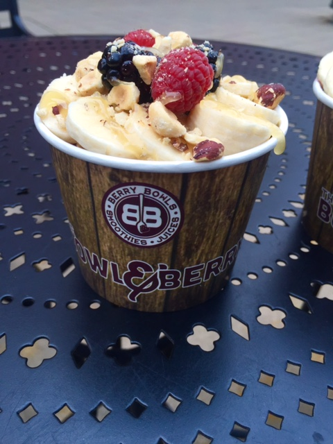 Acai bowls from The Bowl and Berry