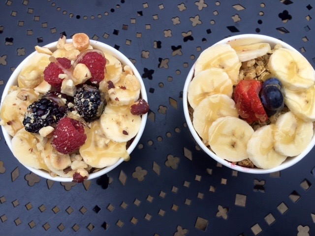 The healthy berry bowls from the new local The Bowl and Berry