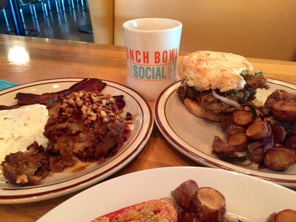 Grabbing brunch at Punch Bowl Social