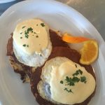Love this twist on Eggs Benedicts at Portland's Batter Griddle and Drinkery